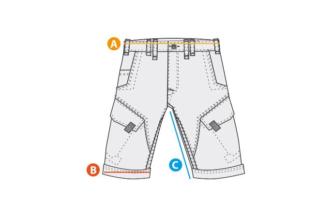 Größentabelle Shorts