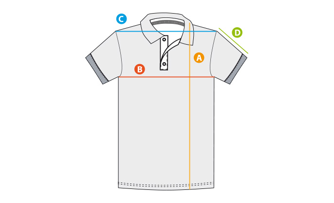 Größentabelle Polo-Shirt