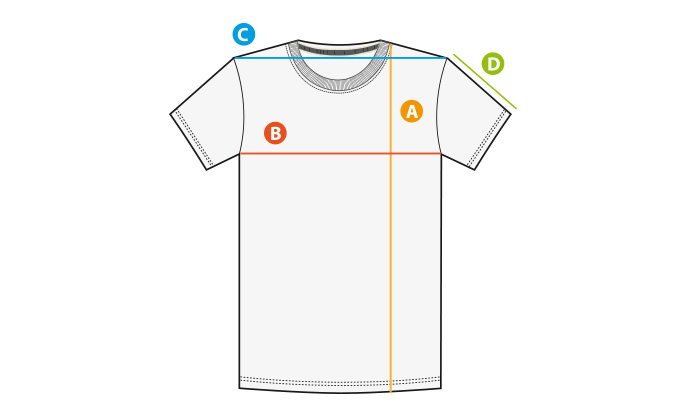 Größentabelle T-Shirt